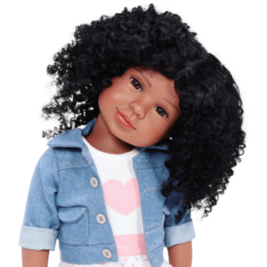 black doll with medium brown complexion