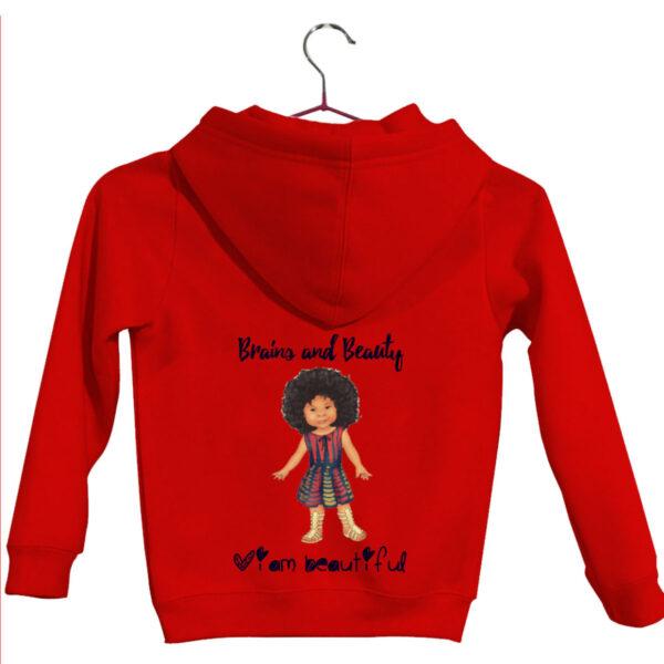 Red kids hoodie